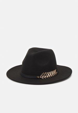 GOLD LEAF TRIM FEDORA UNISEX - Chapeau - black