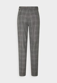 Selected Femme Tall - SLFEMILO CROPPED PANT CHECK - Trousers - medium grey melange - 1
