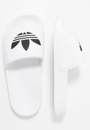 ADILETTE LITE - Pantofle - footwear white/core black