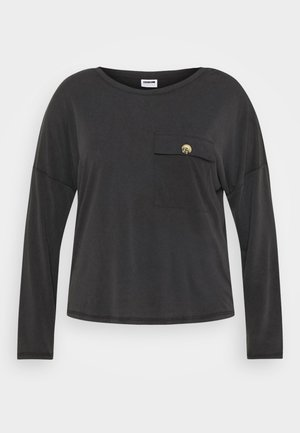 NMDENNY POCKET CURVE - Long sleeved top - black