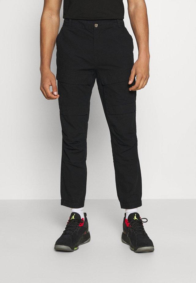 MILES PANTS - Cargo trousers - black