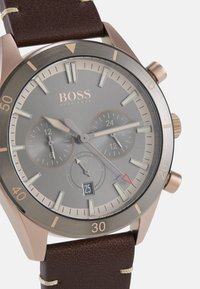 BOSS - SANTIAGO - Chronograph watch - brown/grey - 4