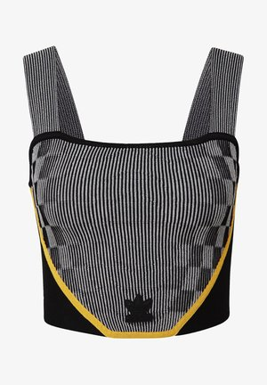 PAOLINA RUSSO COLLAB SPORTS INSPIRED SLIM CORSET - Top - black/reflective silver/active gold