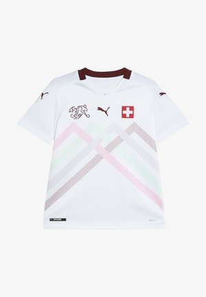 SCHWEIZ SFV AWAY JERSEY - National team wear - white/pomegranate