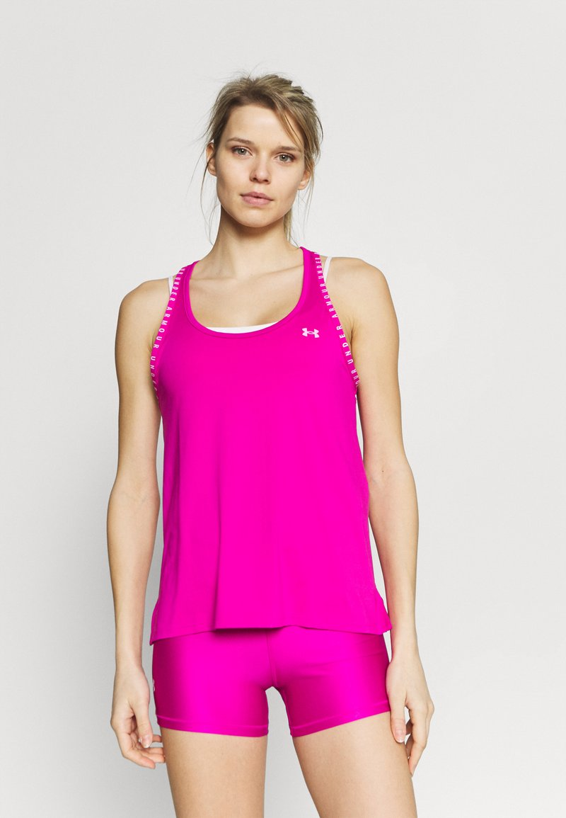 Under Armour - KNOCKOUT TANK - Camiseta de deporte - meteor pink