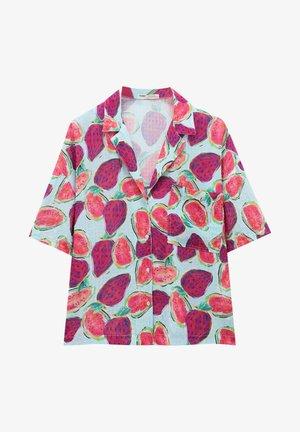 MIT FRÜCHTEPRINT - Košile - mottled pink