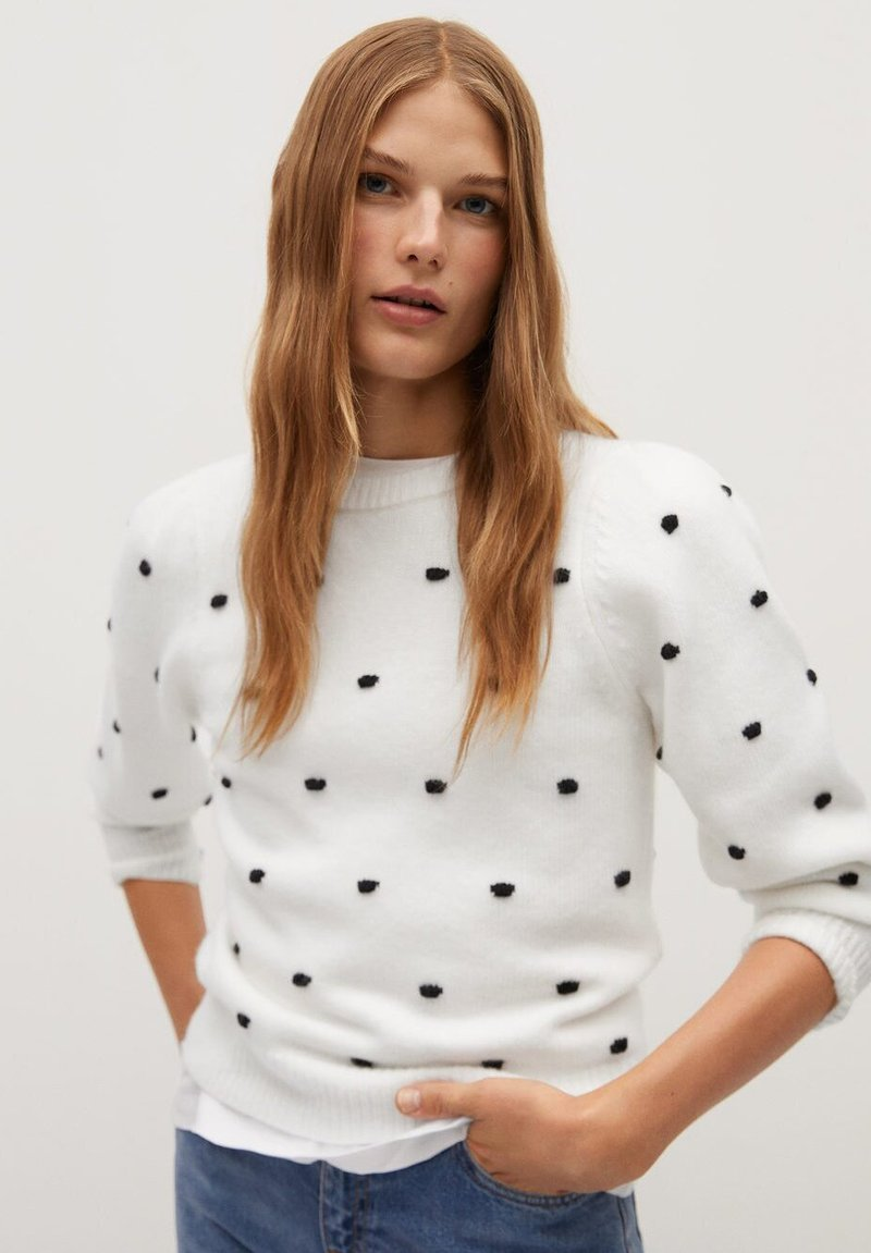 Mango - DOTTY - Jumper - écru