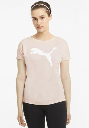 TRAIN FAVORITE CAT - T-shirt print - cloud pink