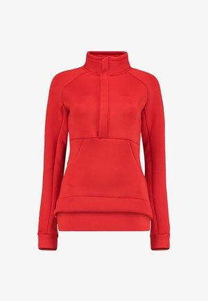 Fleece jumper - fiery red