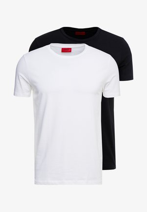 ROUND  - T-shirt basique - black/white