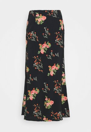 LADIES SKIRT FLORAL - A-line skirt - black/pink