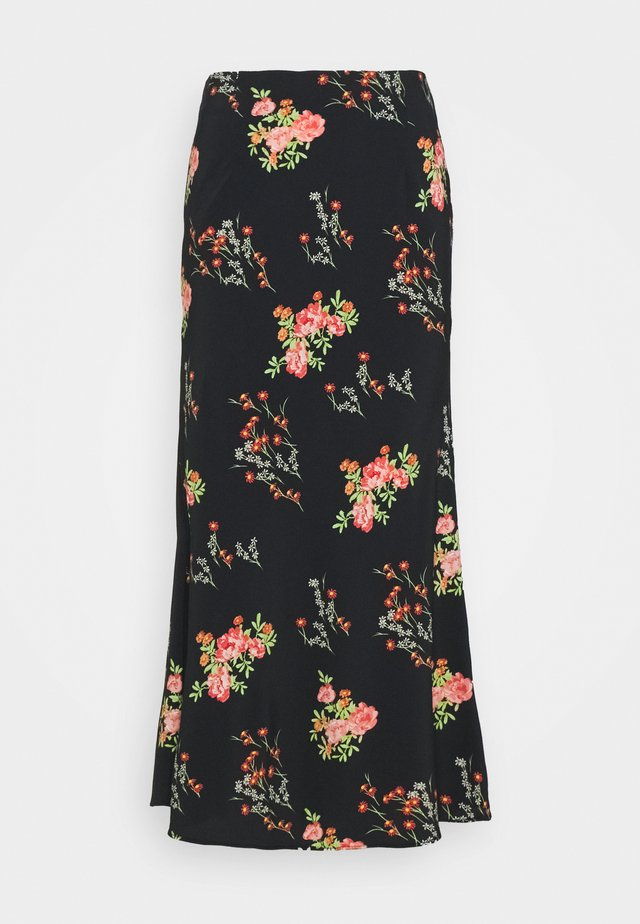 LADIES SKIRT FLORAL - A-lijn rok - black/pink