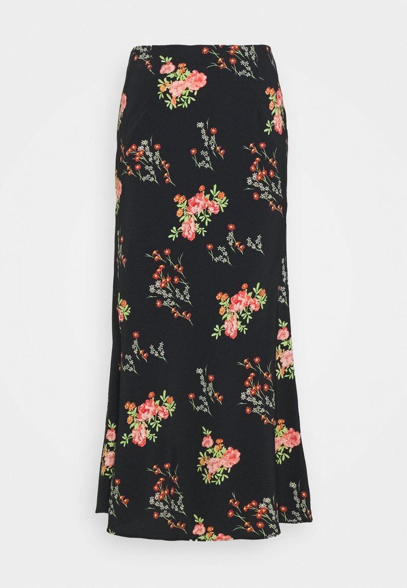 Glamorous Tall - LADIES SKIRT FLORAL - A-line skirt - black/pink