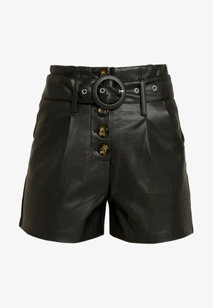 WITH BUTTON FRONT - Shorts - black