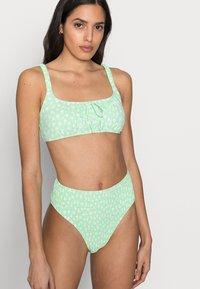 Cotton On Body - ROUCHED HIGHWAISTED CHEEKY BIKINI SET - Bikini - mint - 3