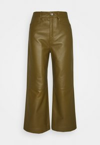 LIGHTWEIGHT CULOTTES - Leather trousers - military