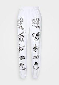 NEW girl ORDER - CLASSIC CARTOON - Pantalones deportivos - white - 3