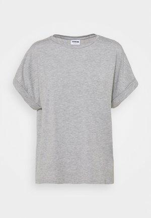 NMSHELLY - Basic T-shirt - light grey melange