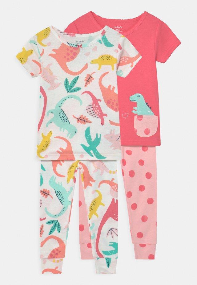 DINO 2 PACK - Pyžamová sada - pink/multi-coloured