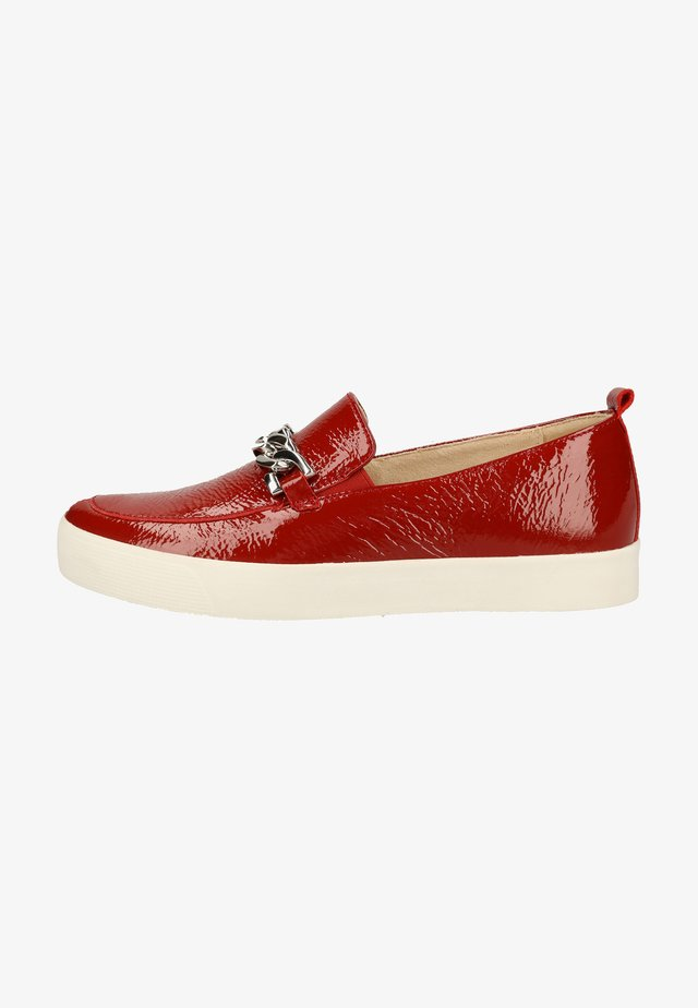 Slip-ons - red naplak