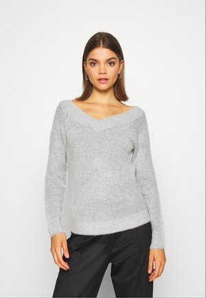 VIKULPIA V NECK - Jumper - light grey melange