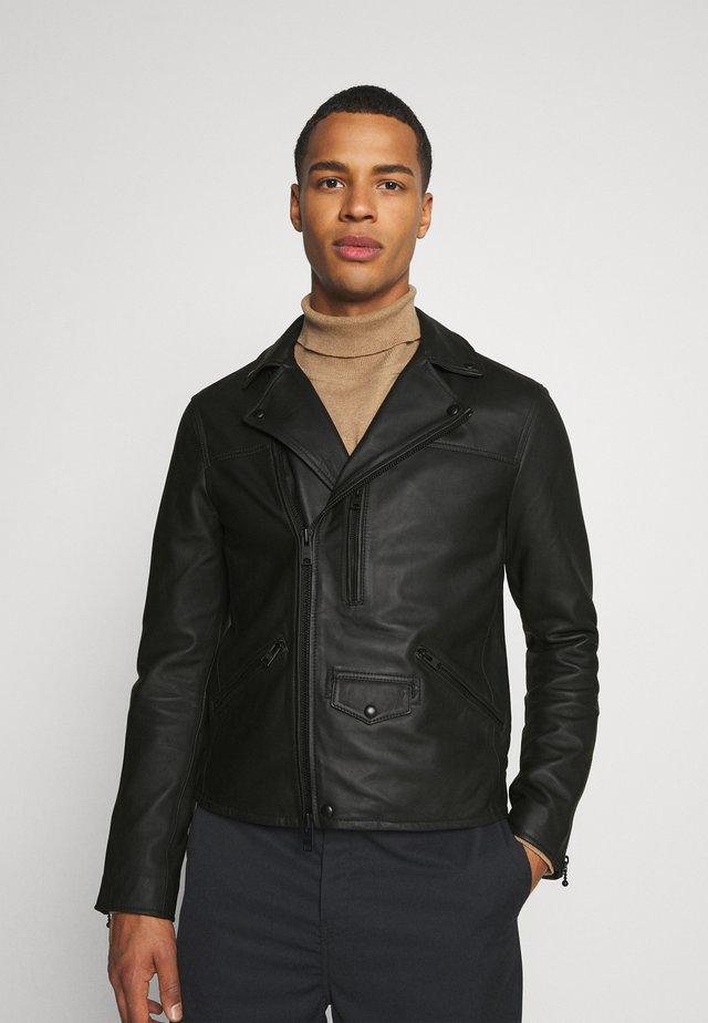 ROSO BIKER - Veste en cuir - black