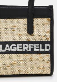 KARL LAGERFELD - SKUARE SMALL LOGO TOTE - Across body bag - black - 5