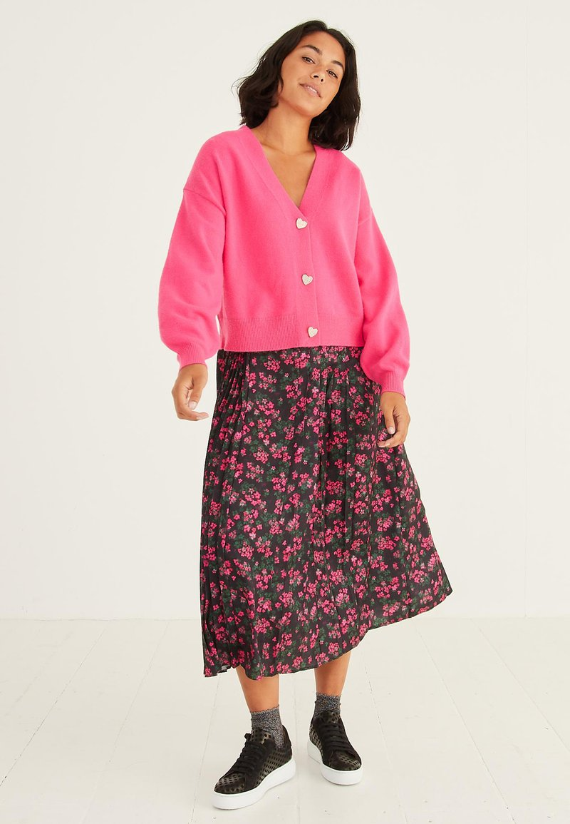Oliver Bonas - DITSY FLORAL PRINT  - Pleated skirt - pink