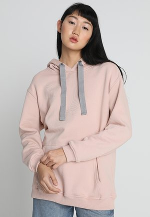 LADIES OVERSIZE HOODY - Hoodie - lightrose/grey