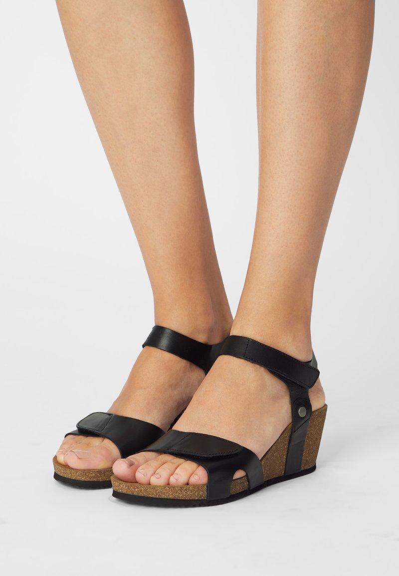 Tamaris - Wedge sandals - black