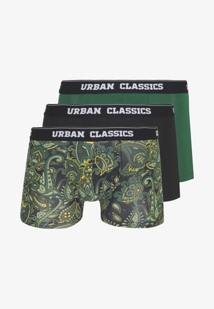 SHORTS 3 PACK - Pants - dark green / black