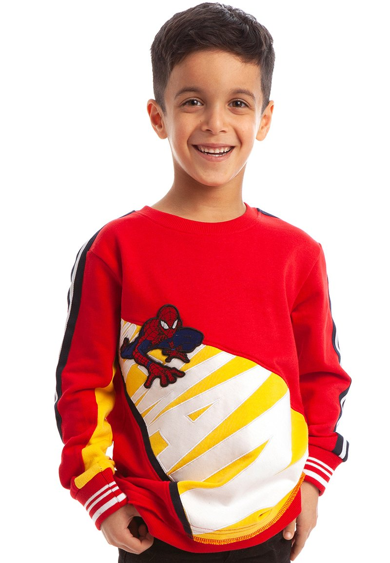 Fabric Flavours - MARVEL SPIDER-MAN CRAWL SWEATSHIRT - Sweatshirt - red