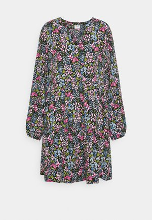 JDYLION LAYER DRESS - Robe d'été - black/multicolour