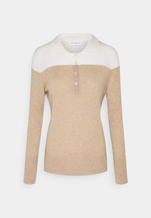 TWO TONE  - Jumper - white/camel
