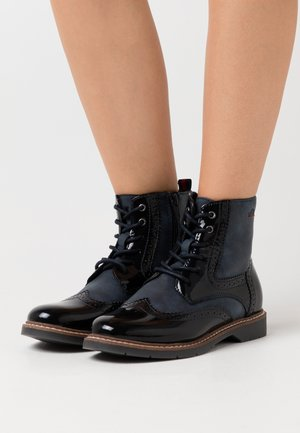 BOOTS - Lace-up ankle boots - navy