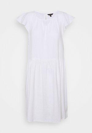 FLUTTER SLEEVE SHIFT DRESS - Day dress - white