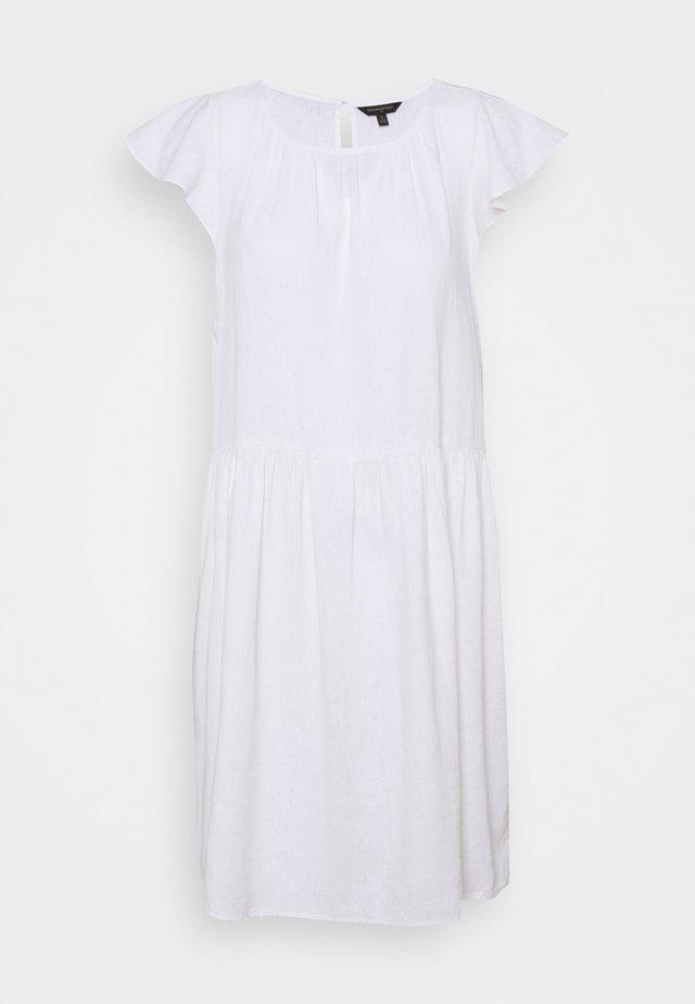 FLUTTER SLEEVE SHIFT DRESS - Vestito estivo - white