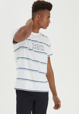 STRIPE - Print T-shirt - bright white