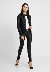 ONLY - BANDIT BIKER - Veste en similicuir - black - 1