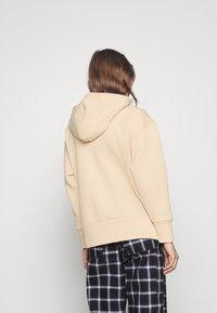 Monki - Felpa con zip - beige dusty light - 2