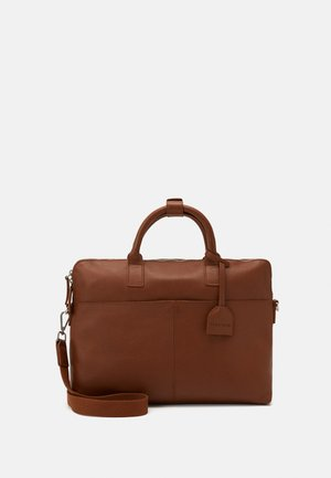 LEATHER - Aktentasche - cognac