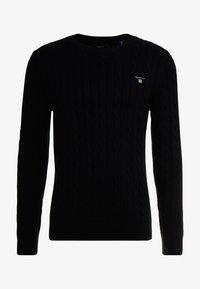 GANT - CABLE CREW - Stickad tröja - black - 4