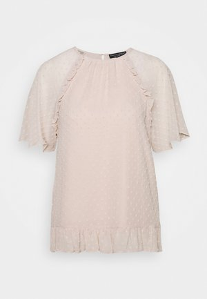 DOBBY RUFFLE - Blouse - neutral