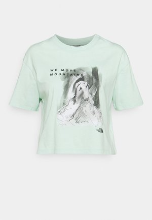 CROP TEE - Camiseta estampada - misty jade