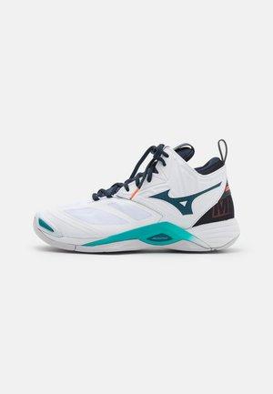WAVE MOMENTUM 2 MID - Chaussures de volley - white/legion blue/ceramic