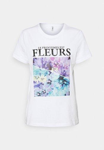ONLPENELOPE LIFE BOX - T-shirt imprimé - bright white