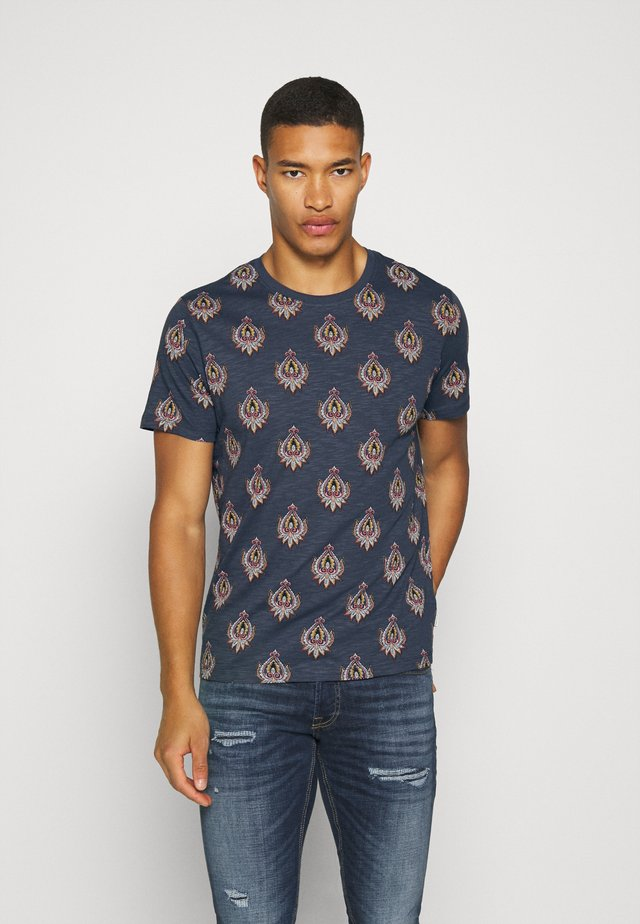 JPRRYDER TEE  - T-shirt con stampa - ombre blue