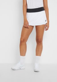 ASICS - TENNIS SKORT - Sportkjol - brilliant white/graphite grey - 0