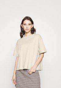 NA-KD - BOXY TEE - Basic T-shirt - beige - 0