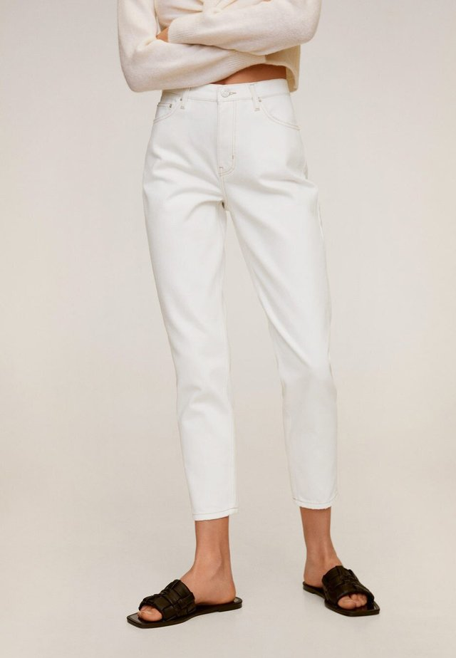 MOM - Jeansy Slim Fit - wit